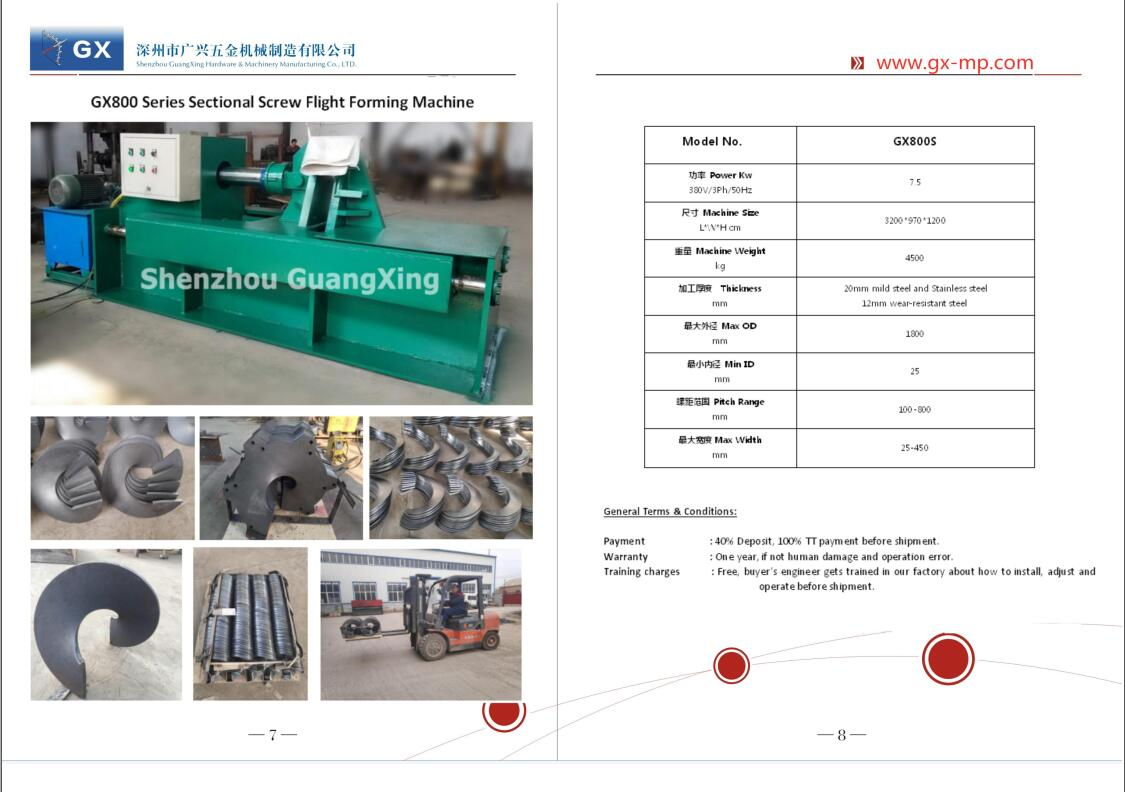 Chinese Factory of screw flight & auger forming machine